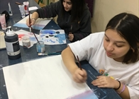 G10 Art Class Using Acrylic Paint  (1)