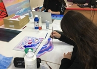 G10 Art Class Using Acrylic Paint  (2)